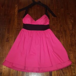 Charlotte Russe Fuchsia & Black Dress, Size 5